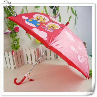 销售定做卡通伞 儿童直杆伞 8片广告伞 晴雨伞 太阳伞 4色选 印字