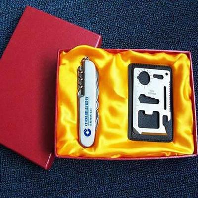 户外刀具随身小刀 瑞士多功能刀具 平面11开小刀+工具卡实用套装