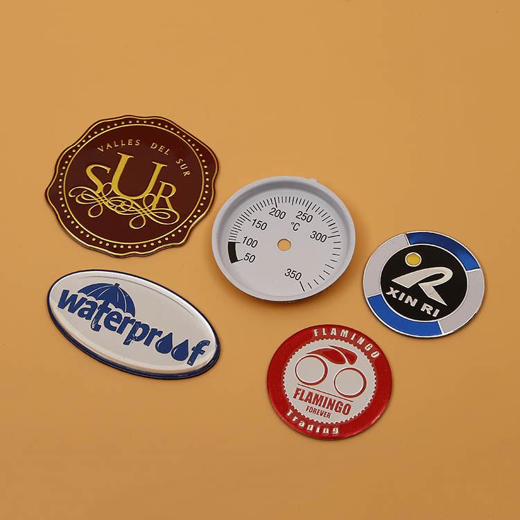 厂家定制印刷金属铭牌 冲压高光锌合金压铸异形标牌