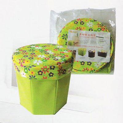 批发无纺布收纳凳储物凳可折叠收纳凳儿童玩具收纳箱厂家直销