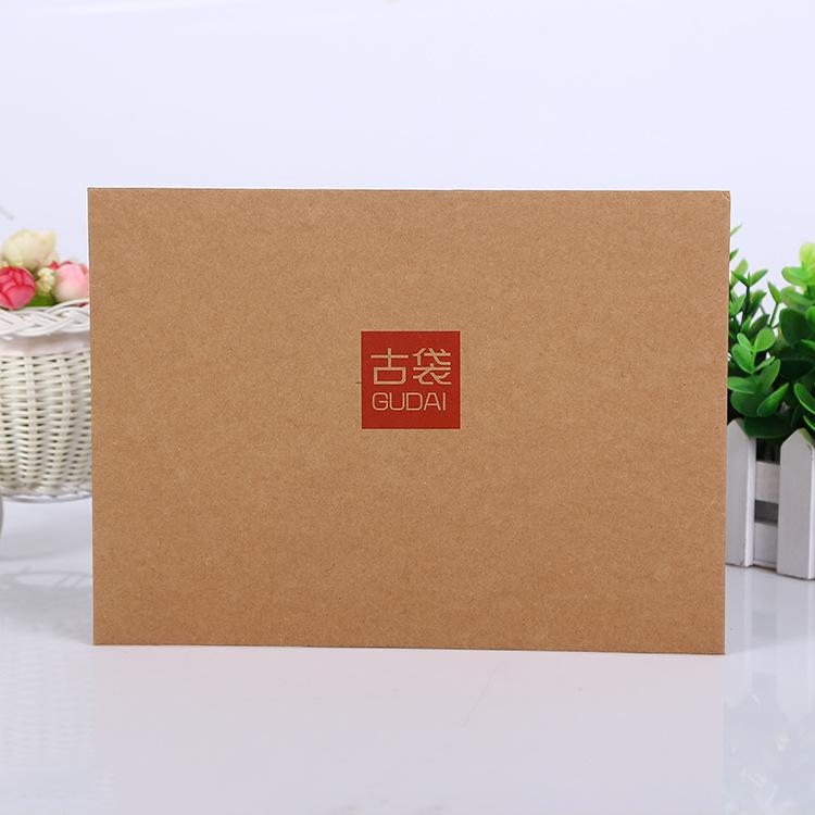 专业厂家定做 小号黄牛皮纸档案袋 文件袋 印刷A4黄牛皮纸制作