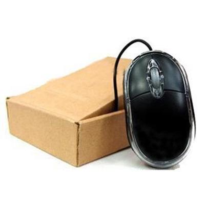 批发USB笔记本鼠标迷你光电联有线鼠标牛皮纸盒