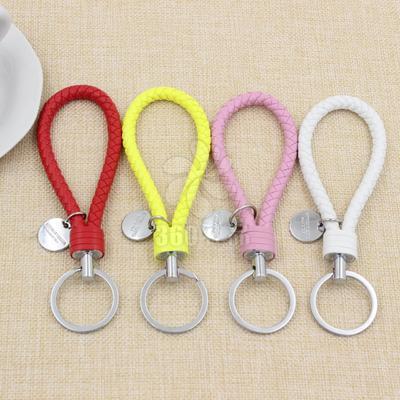 高档编PU织绳钥匙扣 皮绳钥匙扣 大白女士挂件 创意腰挂钥匙扣