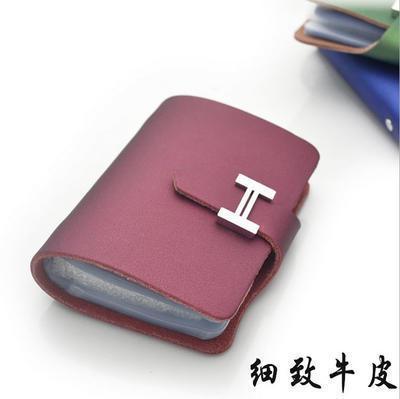 细纹牛皮卡包 名片包 礼品 定制logo 韩版 淘宝批发