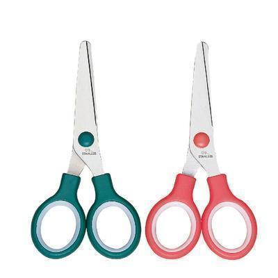 办公用品 deli6007正品小号圆头学生安全剪刀 定制LOGO