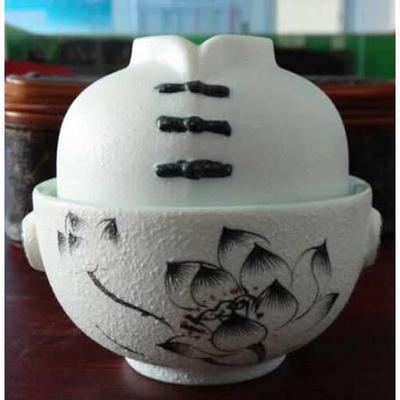 陶瓷茶具雪花釉(快客杯) 荷花,水墨兰花  会议商务活动礼品