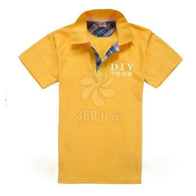 厂家定做格子布翻领短袖广告衫定做 工作服校服宣传活动 广告衫批发可印制logo