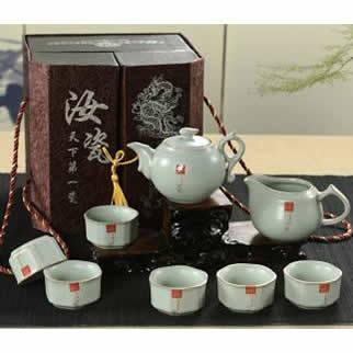 汝瓷(六角、八卦、和尚、梅花、斗笠)会议商务活动礼品陶瓷茶具