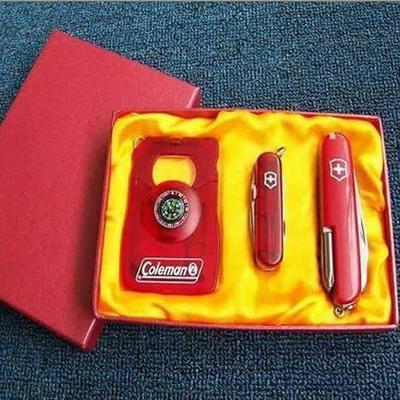 户外刀具随身小刀 瑞士多功能刀具 时尚礼品军刀三件套