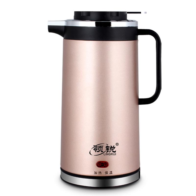 厂家直销双层保温防烫电热水壶电快速烧水壶304不锈钢电茶壶批发