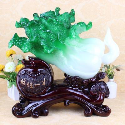 厂家仿玉财旺一生树脂白菜工艺品 家居装饰摆件礼品批发