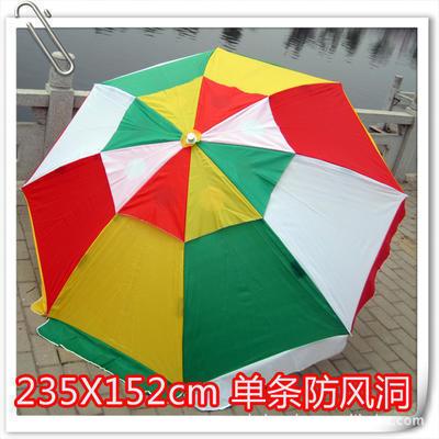直径2.35米防风彩色双顶大号广告太阳伞 户外防晒遮阳伞 定做印字