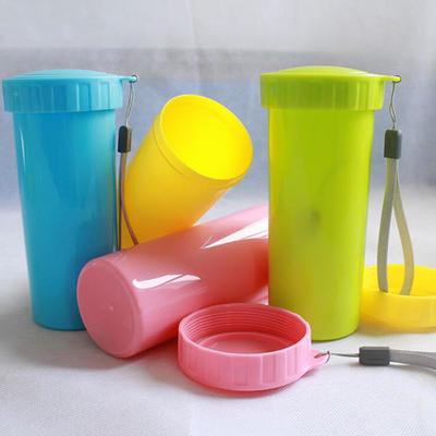 350ml PP创意随手杯 时尚多彩纯色塑料杯 多彩环保杯 可定制logo