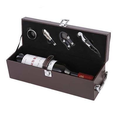 红酒盒 红酒皮盒 葡萄酒盒 单支红酒盒 包装盒 定制礼盒
