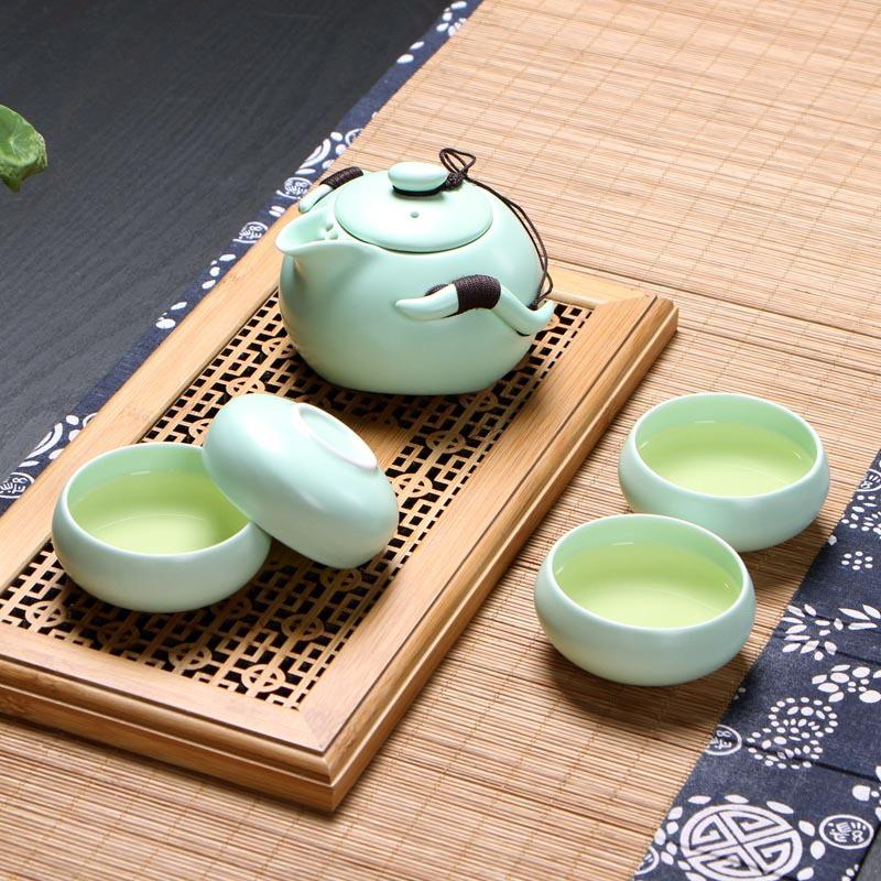 厂家直销 茶具套装 定窑亚光釉茶具 陶瓷功夫茶具特价 企鹅壶