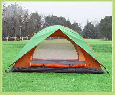 野营帐篷户外双人双层帐篷双门帐篷钓鱼帐篷户外用品赠品LOGO定制