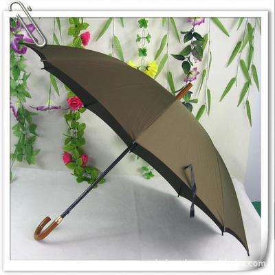 定做直批木把直杆弯把防雨绸10片广告伞 礼品太阳伞 钢架印字雨伞
