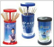 圆型自动牙签筒/广告牙签筒/塑料牙签盒/创意牙签盒定制