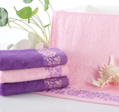缎档玫瑰花竹纤维毛巾洁面美容巾特价促销一条包邮可批发