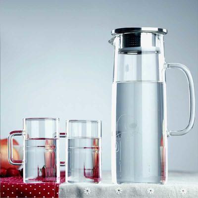 凉水壶玻璃壶透明水具饮料果汁壶大容量凉杯玻璃水壶冷水壶