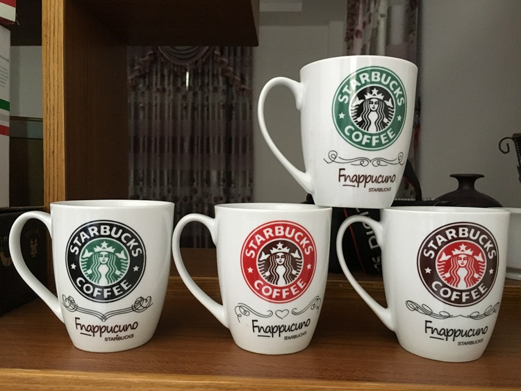 爆款星巴克陶瓷杯子 定制LOGO水杯广告促销赠送礼品单杯咖啡礼品