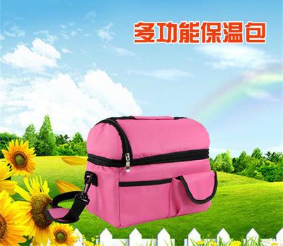 双层保温包 野餐包 保鲜包  奶瓶包 多功能保鲜包便当包LOGO定制