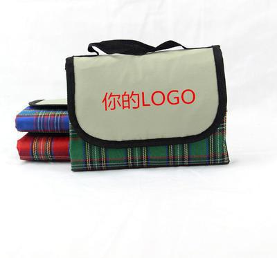 爆款格子布野餐垫防潮垫地垫 沙滩垫防水垫 户外用品赠品LOGO定制