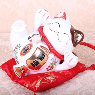 陶瓷喜庆开业礼品礼物招财猫存钱罐 家居店面招财摆件