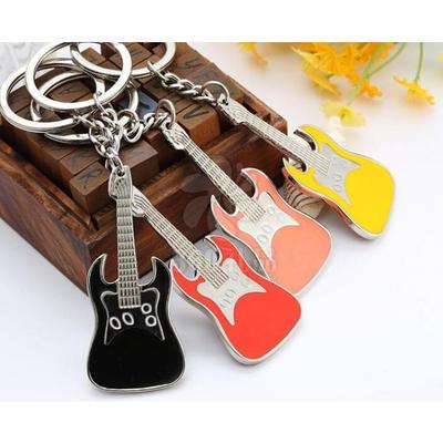 彩色吉他乐器个性钥匙扣 小提琴钥匙圈广告礼品钥匙链可logo批发