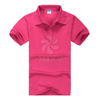 CVC翻领短袖广告衫定做,可做厂服班服不退色不起球不变形,广告衫批发可印制logo