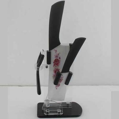 刀具用品套装 不锈钢刀具套装 4+6.5+扁刨+刀座彩盒陶瓷套刀