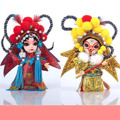 娟人 民间工艺品京剧脸谱人偶娃娃 出国送老外特色礼品