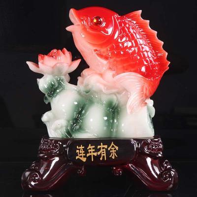 连年有余树脂鱼工艺品促销礼品 家居装饰品摆件厂家