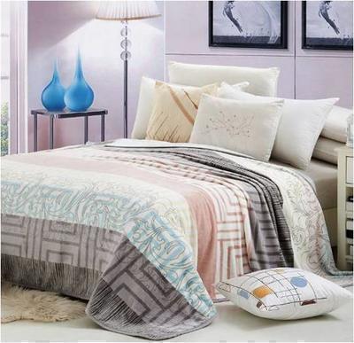 法莱绒精致印花毯 致生活