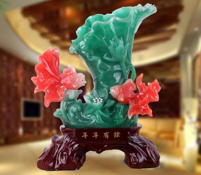 精品花瓶鱼树脂工艺品