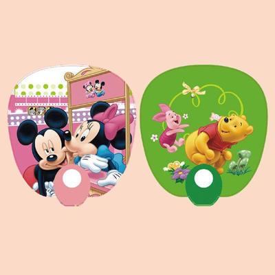 塑料广告扇厂家直销 0形广告扇定做 尺寸规格可定制 批发可印制logo