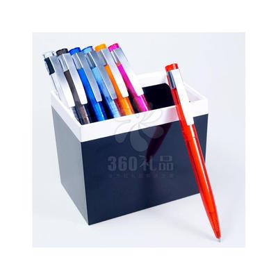 厂家直销透明圆珠笔 金属笔夹 展会礼品广告笔定制加印logo