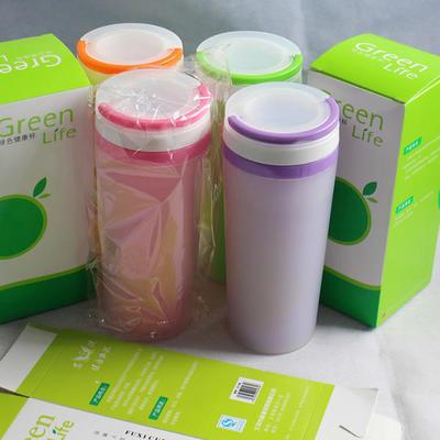 批发定制 订做300ml双层杯 可印制LOGO 颜色鲜亮 直销促销礼品