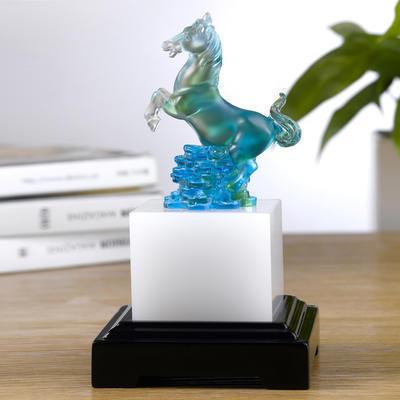 商务礼品定制 生肖招财琉璃印章实用办公摆件 送领导送客户创意琉璃工艺品