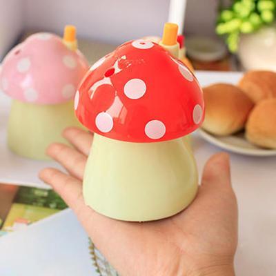 广告牙签筒 牙签盒订制 蘑菇牙签筒 广告牙签盒 可印LOGO