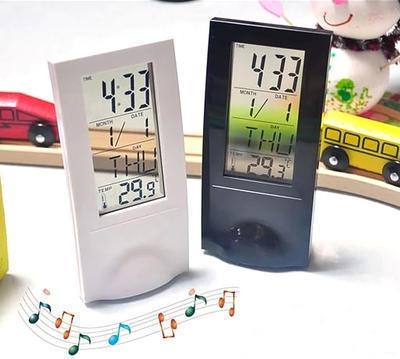 定制 创意个性懒人时钟 LED透明计时闹钟 LED电子钟 定制logo