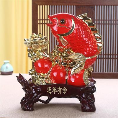 【精品新款金间红工艺品】树脂鱼摆件 连年有余工艺品装饰品