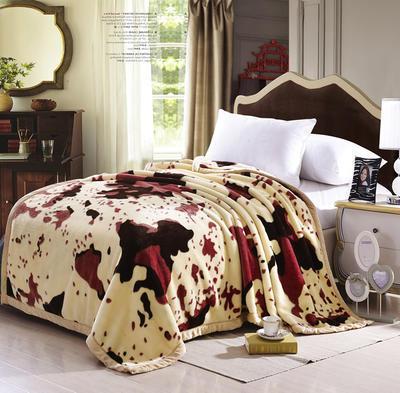 水貂绒时尚暖冬毯 优质原生态水貂绒 厂家直销 可印logo 浪漫奶牛