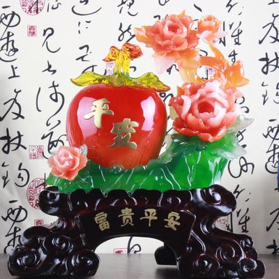 精品树脂工艺品摆件 苹果富贵平安风水乔迁礼品!创意礼品