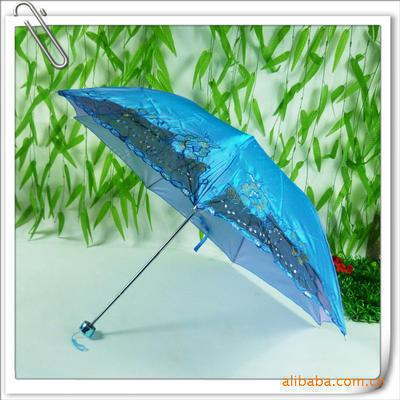 变色龙二片 广告伞 四折伞 遮阳伞 礼品伞 促销礼品 晴雨伞印字