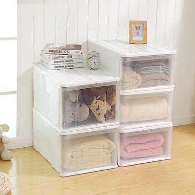 时尚抽屉收纳箱收纳盒整理箱储藏柜多功能可叠加储物柜