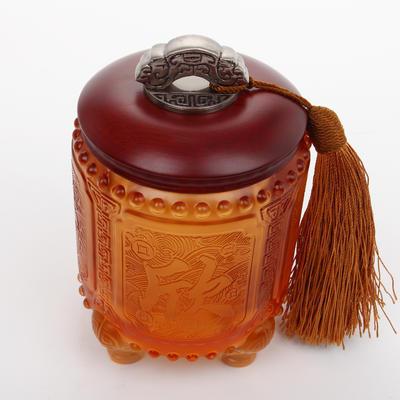琉璃茶叶罐送领导客户高端实用商务礼物 家居饰品摆件可定制LOGO