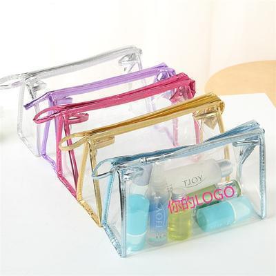 透明时尚女士化妆包 防水旅行收纳洗漱手提化妆袋 印刷LOGO定订制