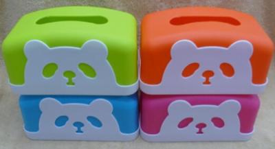 广告盒抽纸定制 可爱动物方形塑料纸巾盒批发 纸巾抽黑色咖啡色底座
