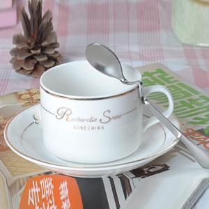 定制广告陶瓷杯 澳式咖啡杯碟 马克杯